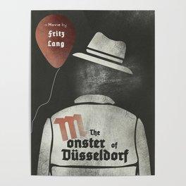 Fritz Lang, M The monster of Düsseldorf, Peter Lorre, minimalist movie, thriller, German film Poster