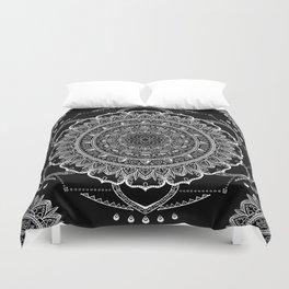 Black and White Geometric Mandala Duvet Cover