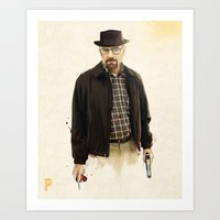 heisenberg Art Prints featuring Heisenberg by keith p. rein
