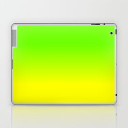 Neon Green and Neon Yellow Ombré  Shade Color Fade Laptop & iPad Skin