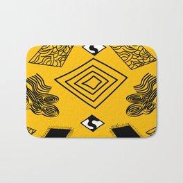 Yellow and Black Diamonds Bath Mat