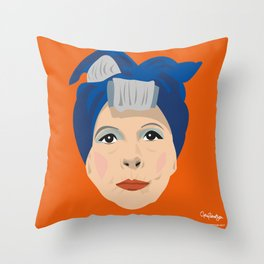Ruth Gordon as Minnie from Rosemary's Baby Throw Pillow