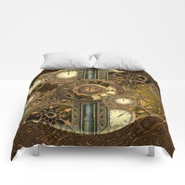 Steampunk, awesome clocks Comforters