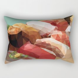 Nigiri Sushi Platter Polygon Art Rectangular Pillow