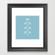 Blue Sprig Framed Art Print