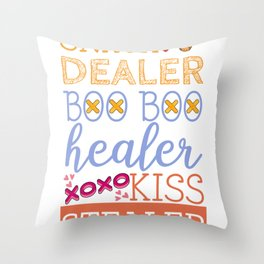 Family Love Mom Dad Kids Kiss Stealer Throw Pillow