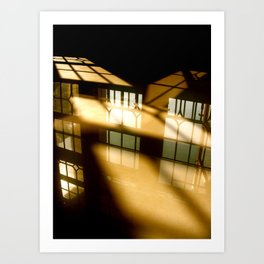 REFLECTIONS IN YELLOW Art Print