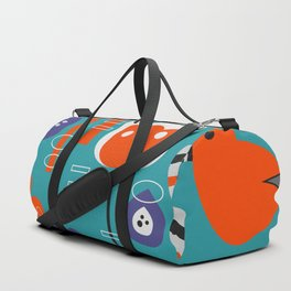 Modern birds and sleepy cats Duffle Bag