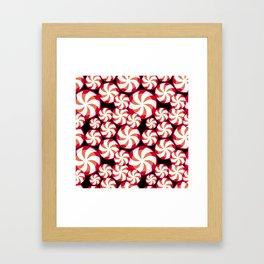 Swirl Candy Framed Art Print