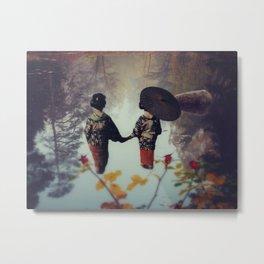 Geishas in the Pond... Metal Print
