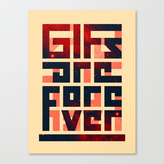 GIFs are forever Canvas Print