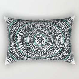 Mandala with a touch of pastel green Rectangular Pillow