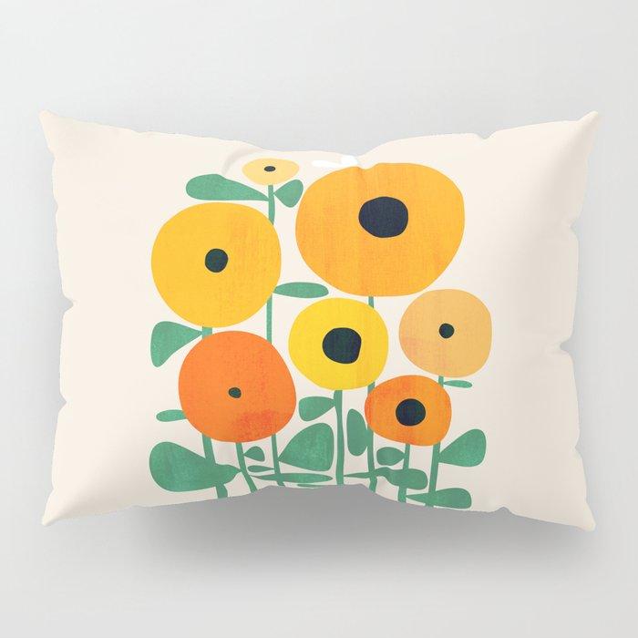 Sunflower and Bee Pillow Sham