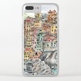 Manarola, Clear iPhone Case
