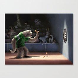 Sloth Darts Canvas Print