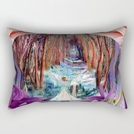 Fairy and Unicorn, Fantasy Forest Rectangular Pillow