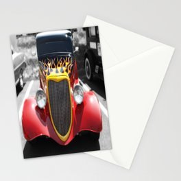 Car Hot Wheels Flames photography Stationery Cards