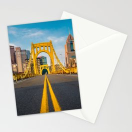 Pittsburgh Steel City Skyline Bridge Pennsylvania Photography Print Stationery Cards