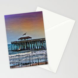 Myrtle Beach State Park Pier - Photo as Digital Paint Stationery Cards