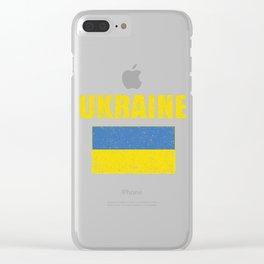 Ukrainian National Flag Vintage Ukraine Country Gift Clear iPhone Case