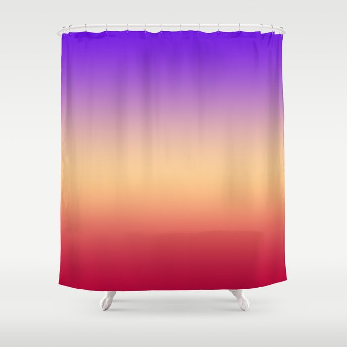 Purple Red Ombre Shower Curtain By Temas14mk