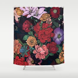Moody Floral 1 Shower Curtain