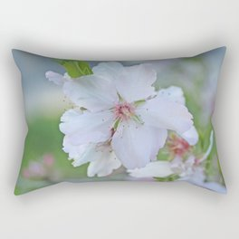 Almond tree flower blooming Rectangular Pillow