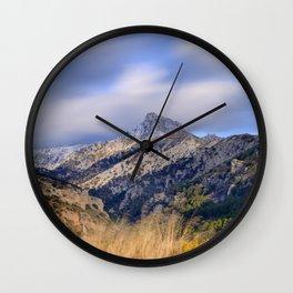 """""""Trevenque"""". Square Wall Clock"""