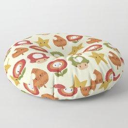 mario items pattern Floor Pillow
