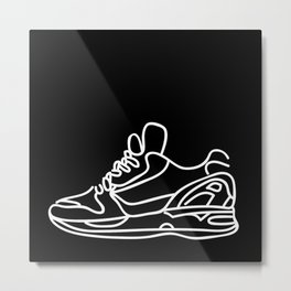 Sneakers Outline #2 Metal Print