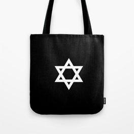 Star of David 3- Jerusalem -יְרוּשָׁלַיִם,israel,hebrew,judaism,jew,david,magen david Tote Bag