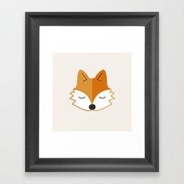 Cute Fox Head Framed Art Print
