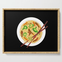 Lo mein decor // Lo mein noodles //  chow mein noodles // Chinese noodles Serving Tray