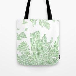 Sydney Australia watercolor city map Tote Bag