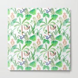 jungle lifestyle pattern Metal Print