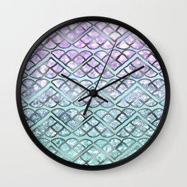MERMAID Glitter Scales Dream #2 #shiny #decor #art #society6 Wall Clock