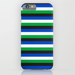 Torres Strait Islander flag stripes iPhone Case