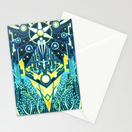 The Reaper War: Control Ending - Quarian Tapestry Art Style (blue/gold ver.) Stationery Cards