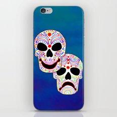 Comedy-Tragedy Colorful Sugar Skulls iPhone & iPod Skin