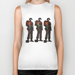 Flowers Not Guns Biker Tank
