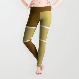Team Colors 6....gold,brown Leggings