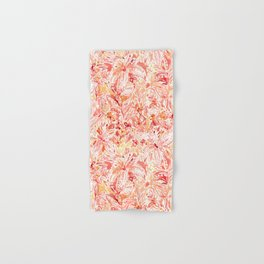 LILY LUST Peach Painterly Floral Hand & Bath Towel