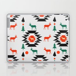 Deer in red and green Laptop & iPad Skin
