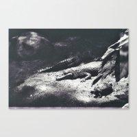 crocodile Canvas Prints featuring Crocodile by Lydia Brodde