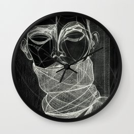 Alisa Ahmann by Txema Yeste (B) - Artist: Leon 47 ( Leon XLVII ) Wall Clock