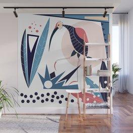 the blue bird Ibis Wall Mural