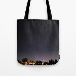 Stars Over Maple Leaf Tote Bag