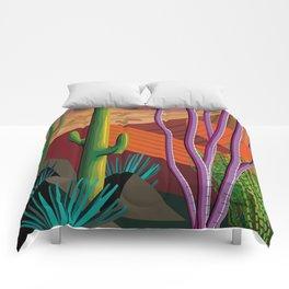 Cactus on Mountaintop Comforters