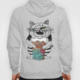 Emotional Cat. Playful. Hoody