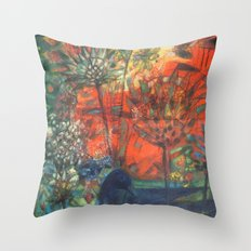 Blue Bird. Throw Pillow